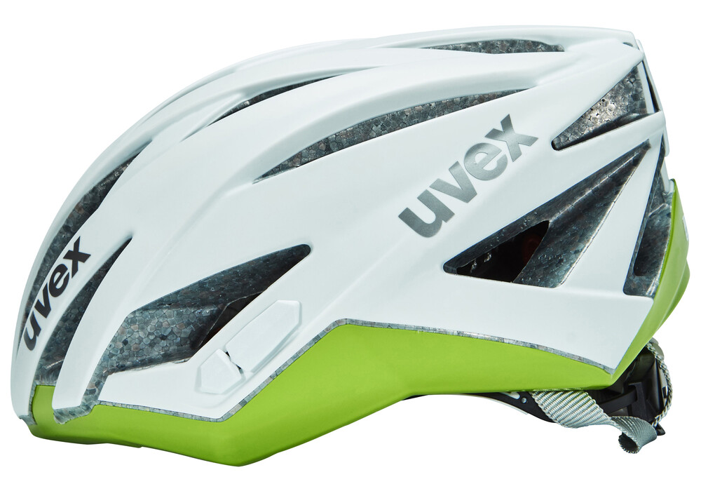 uvex ultrasonic race helm damen white mat green g nstig. Black Bedroom Furniture Sets. Home Design Ideas